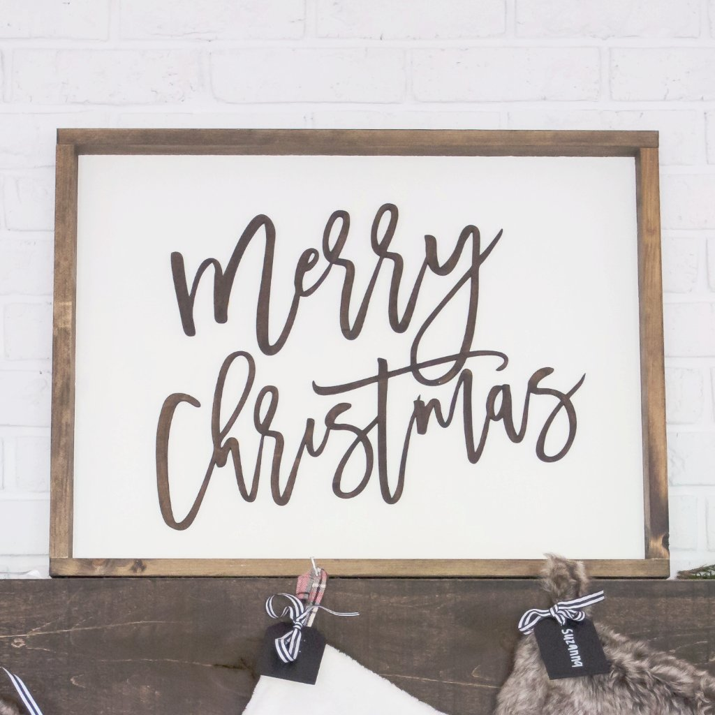 Merry Christmas 3D Wood Sign