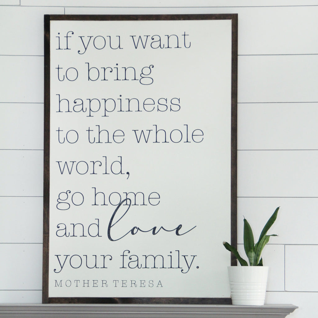 Go Home and Love Your Family | Mother Teresa