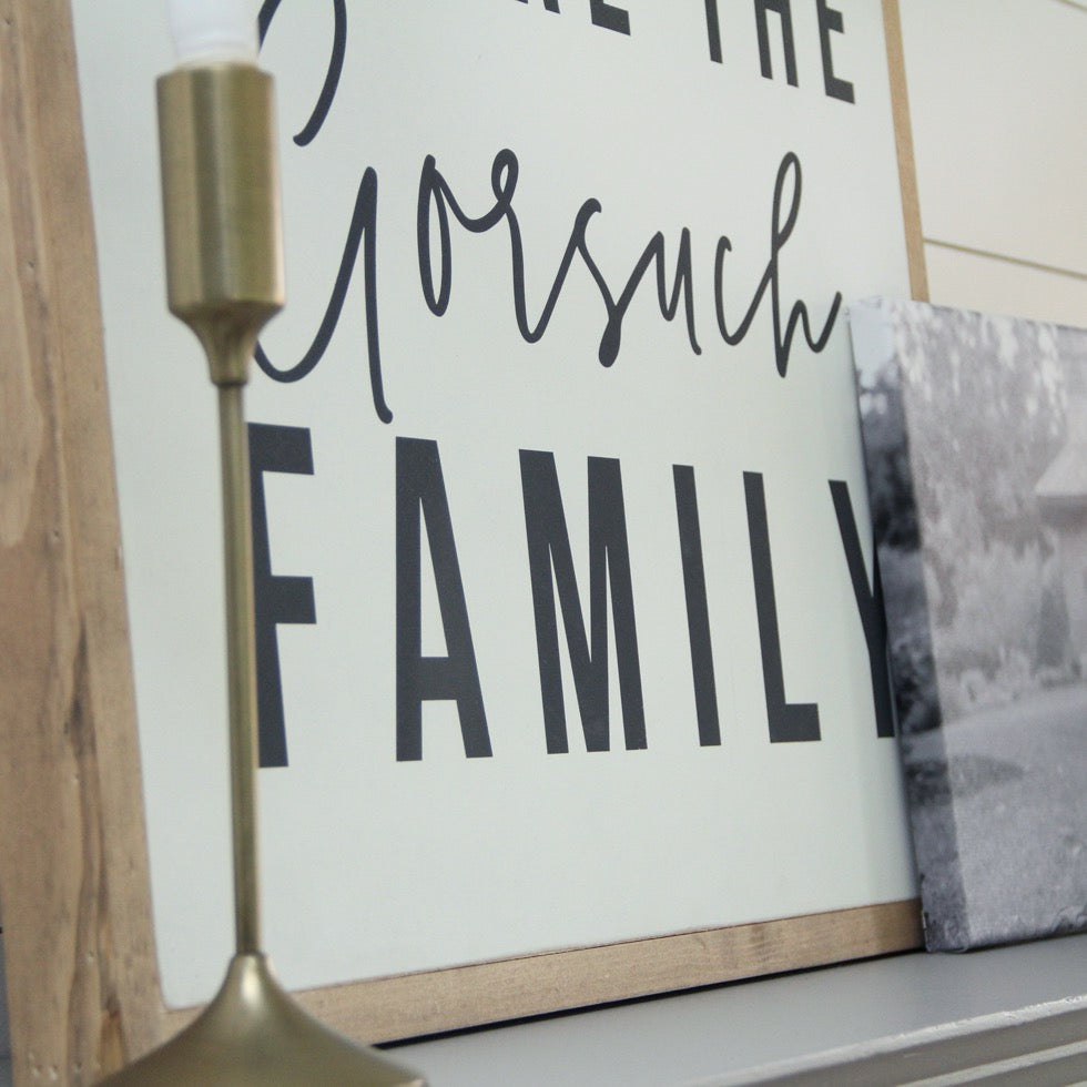 Family Declarations Sign