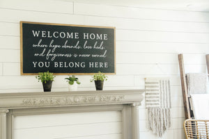 Welcome Home Wood Sign