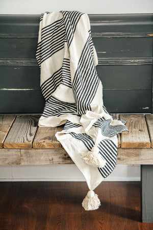Black White Throw