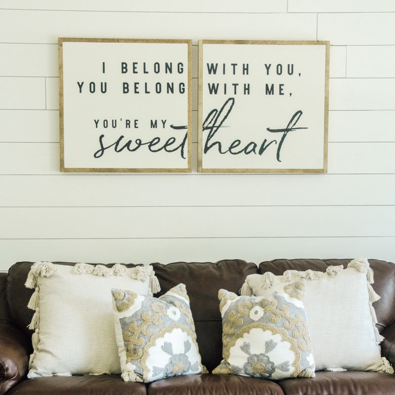 I belong with you | 2'x2' Sign Pair