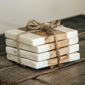 Set of Marble Coasters