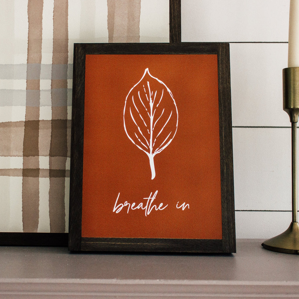 Set of 3 Leaf Signs