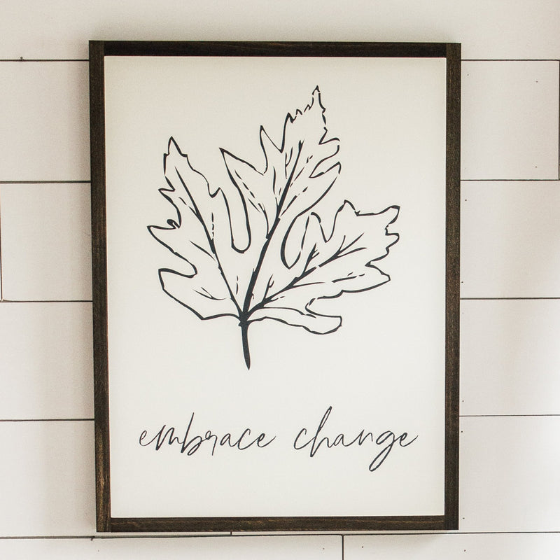 Embrace Change Leaf