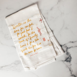 Winter is the Time | Flour Sack Towel