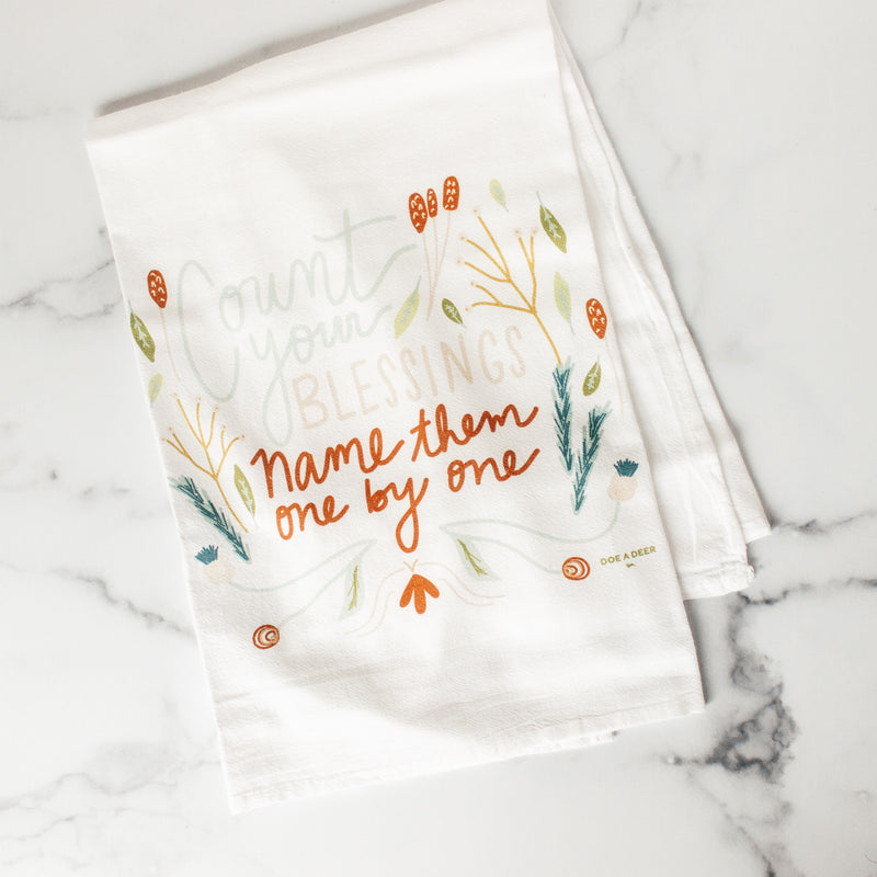 Count Your Blessings | Flour Sack Towel