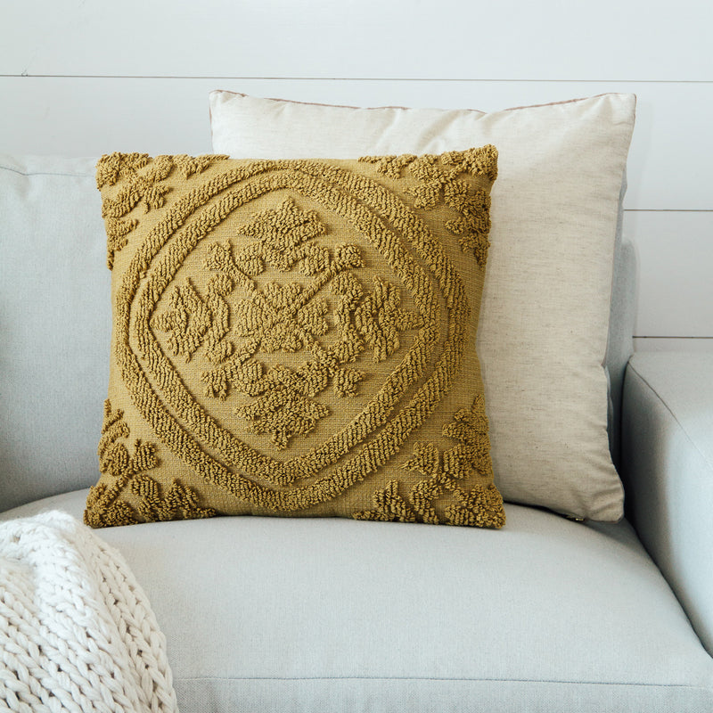 Square Mustard Pillow