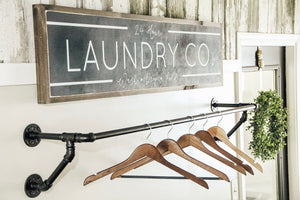 Laundry Co. 4'x1' Wooden Sign