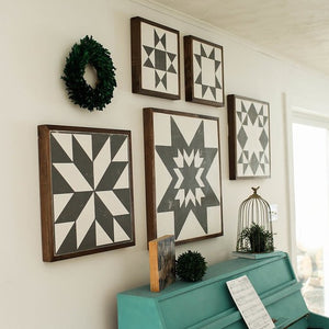 Barn Quilt Sign LARGE | 2'x2' wooden sign