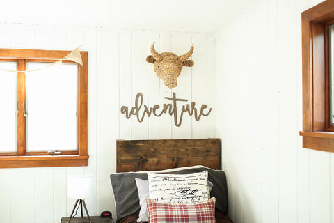 adventure | 3D word | cutout word | wooden word