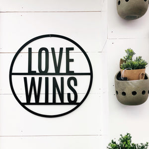 Love Wins Metal Round
