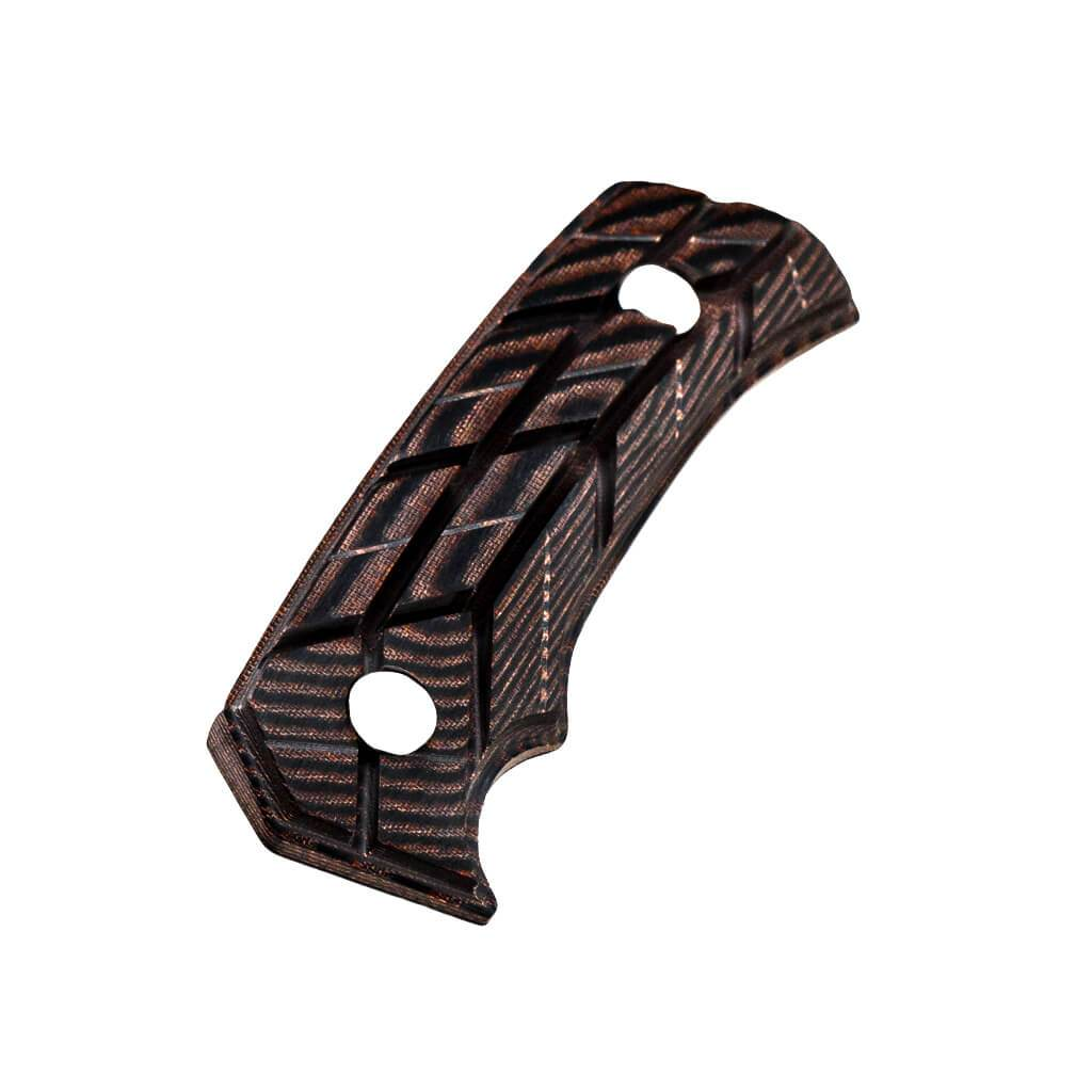 Rock 62 X-Grip Brown Knife Handles