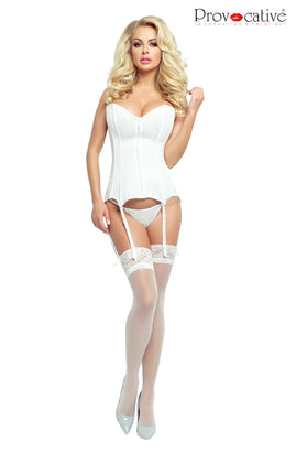 Provocative Collection CORSET WHITE,Lingerie,Provocative, - Sexy Dress Outlet