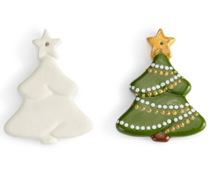 Christmas Tree Flat Ornament