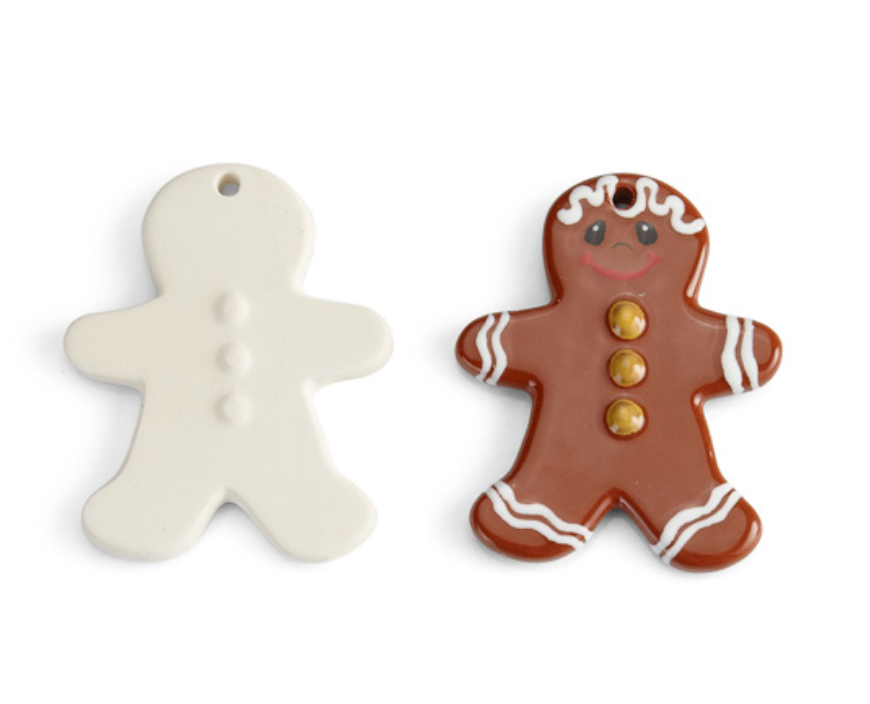 Gingerbread Man Flat Ornament