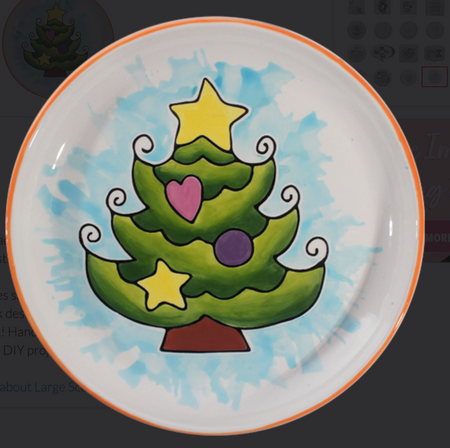 Christmas Tree Color Plate