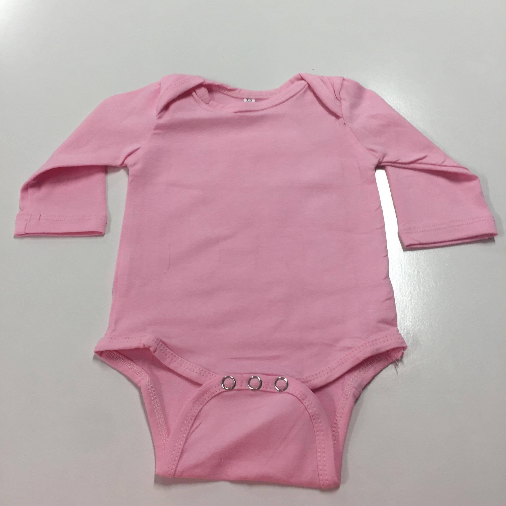 Cotton Spandex Bodysuit - Long Sleeve Light Colours
