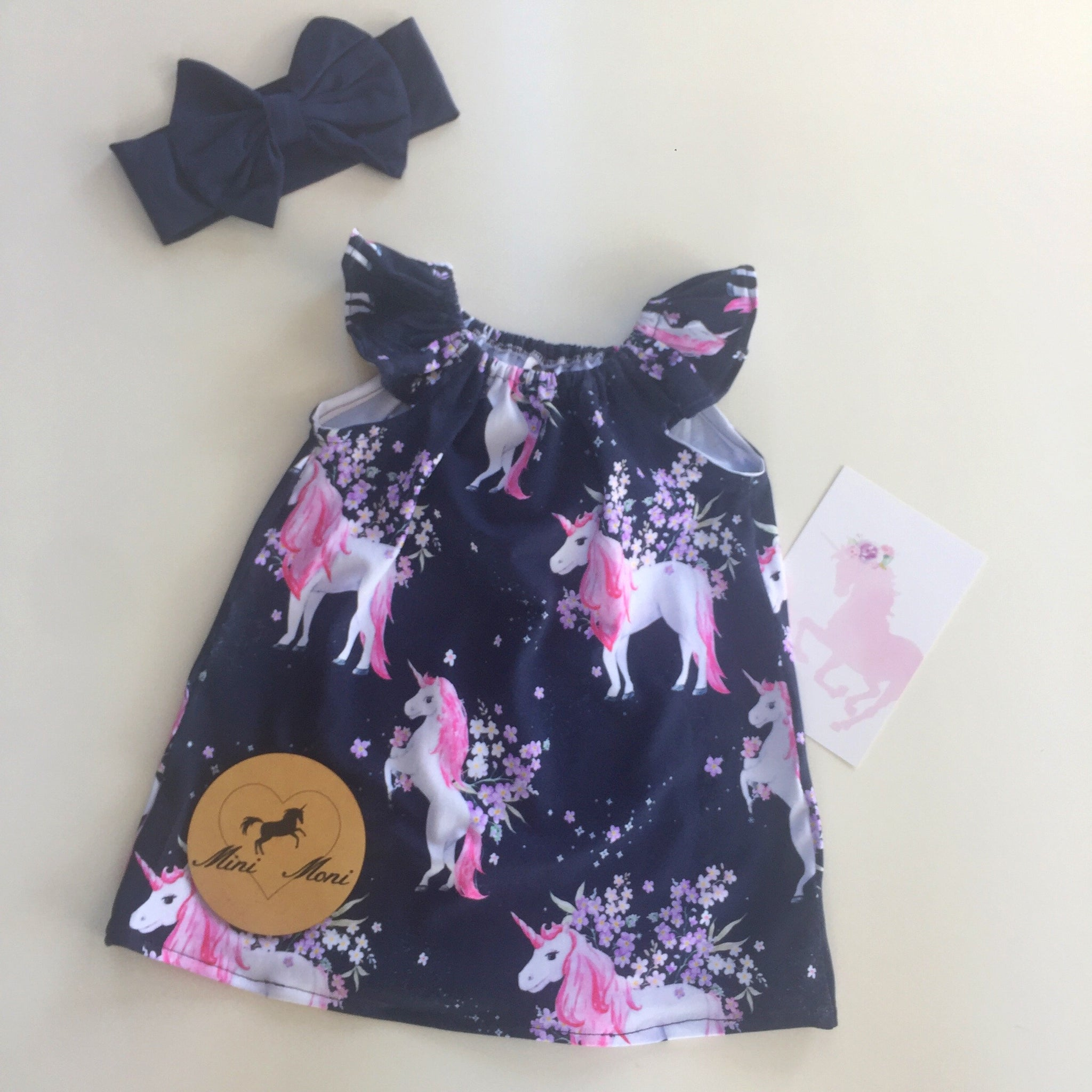 Navy Unicorn Seaside Dress in Knit