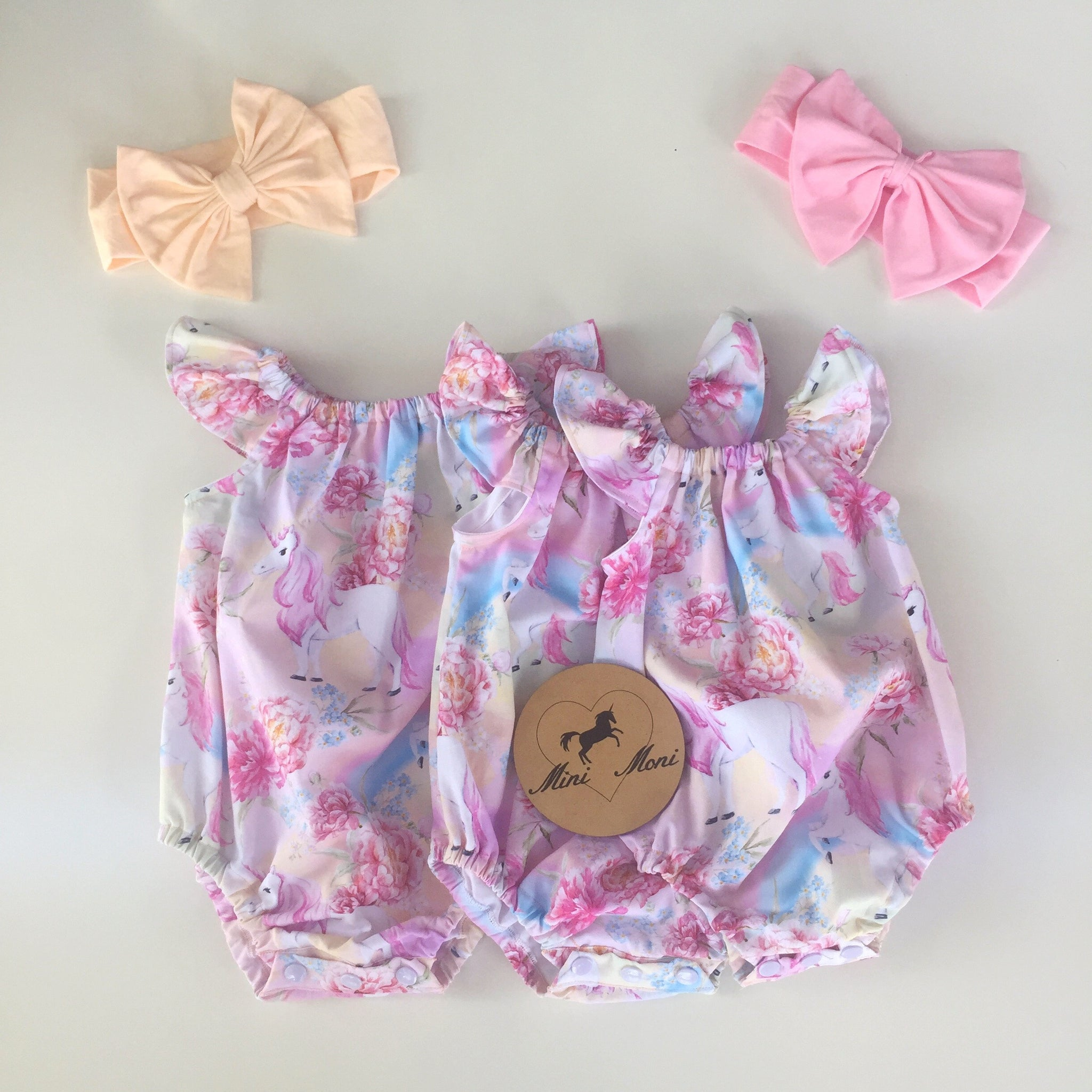 Pastel Unicorn Romper Short or Long Sleeve