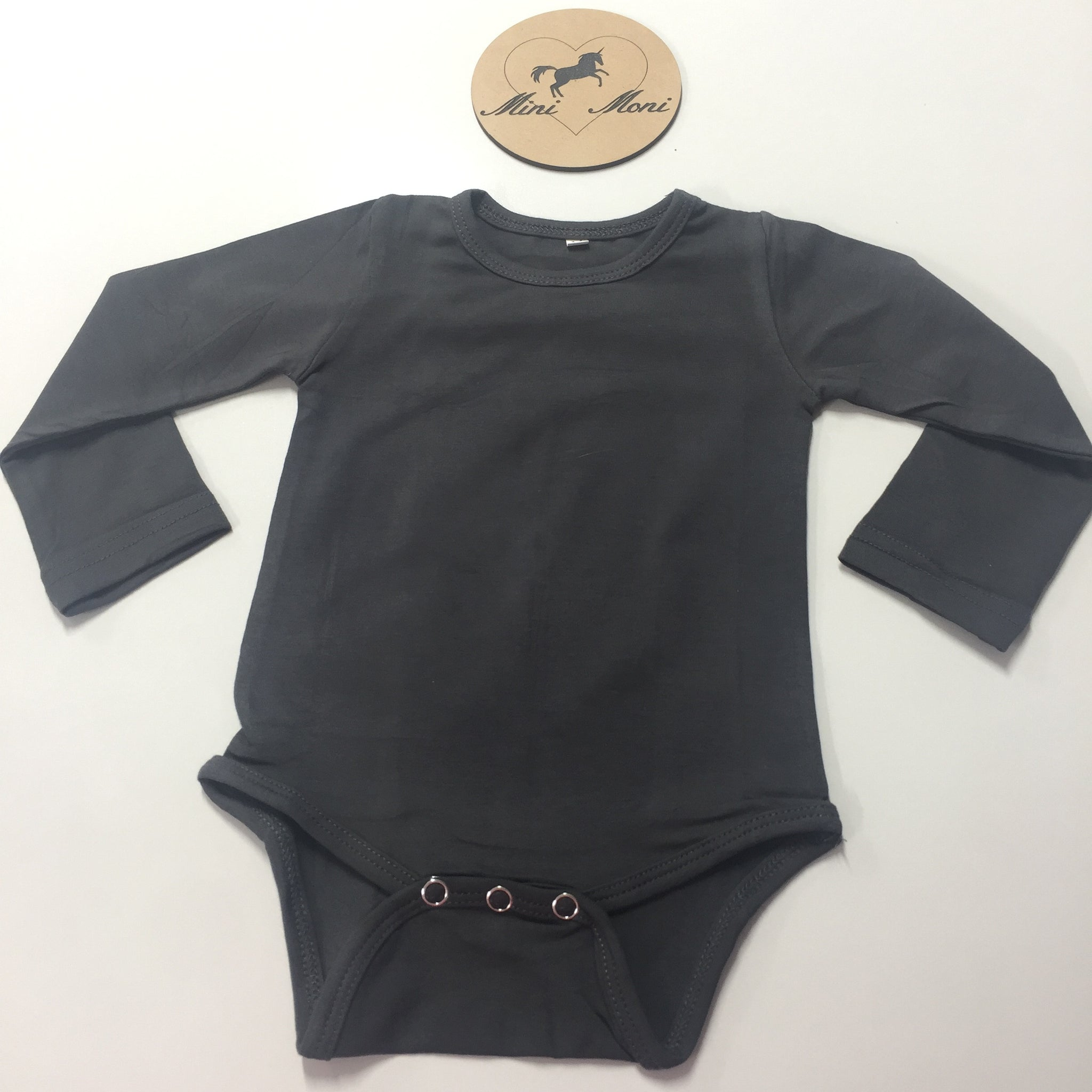 Cotton Spandex Bodysuits - Long Sleeve Dark Colours