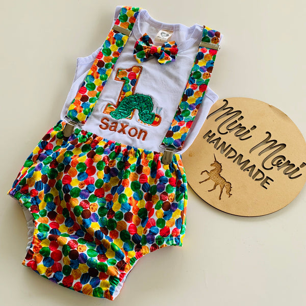 Personalised birthday outfit - Nappy Cover Suspender Set
