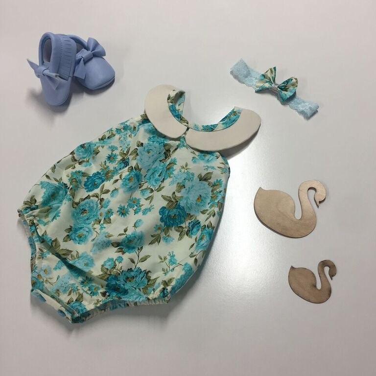 Made In Adele Aqua with a Peterpan Collar (Fabric no longer Available)