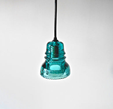 Blue Glass Insulator Pendant Lighting