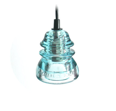 Ice Blue Antique Insulator Pendant Light