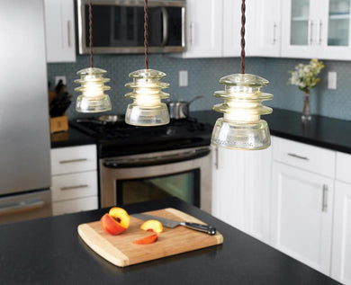 Tiered Glass Insulator Pendant Light