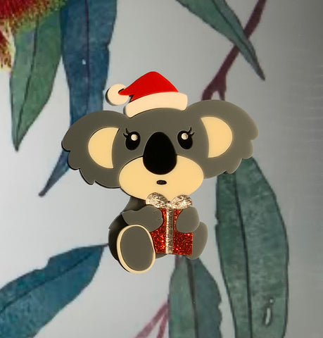 Christmas Koala Brooch