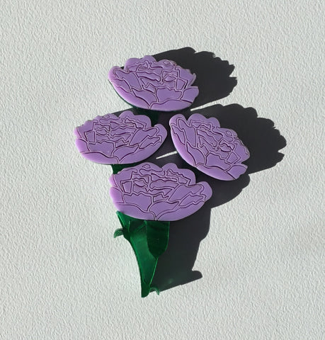 Mauve Carnation Brooch