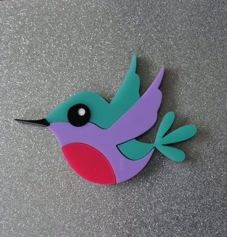 Holly the Hummingbird Brooch