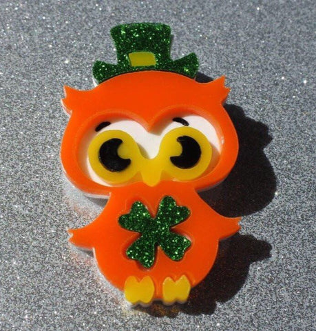 Moss the Irish Owl Brooch