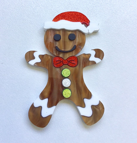 Gingerbread Man Brooch