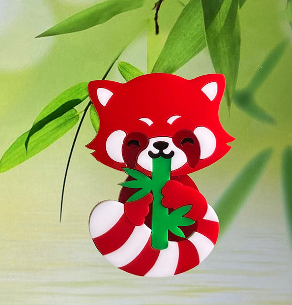 Red Panda Brooch