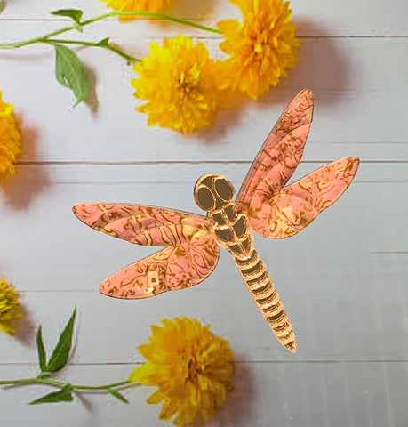 Pink Dragonfly Brooch
