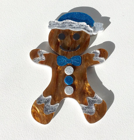 Gary the Gingerbread Man Brooch