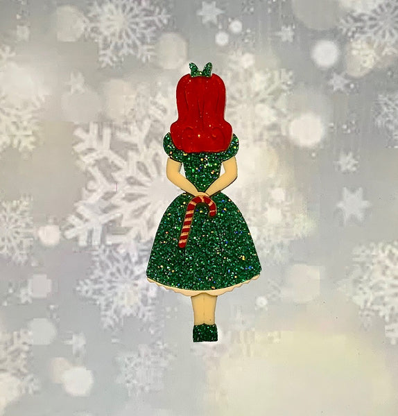 Christmas Alice Brooch