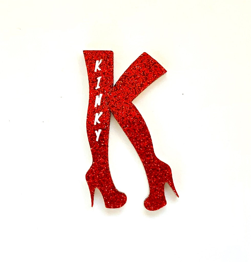 Kinky Boots - Red Sparkle Brooch
