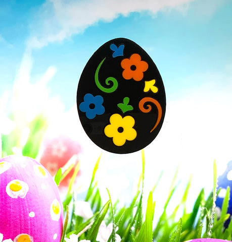 Decorated Egg - Midnight Brooch