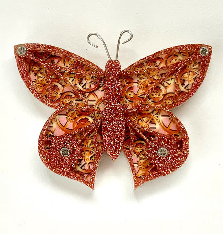 Mechanical Moth Brooch