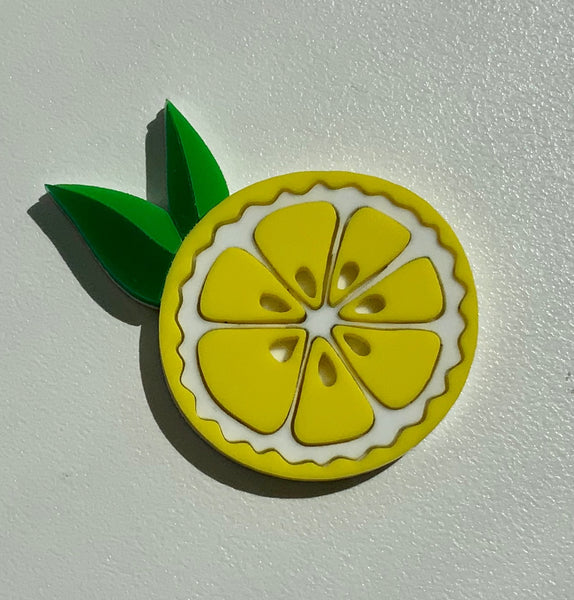 Lemon Slice Brooch