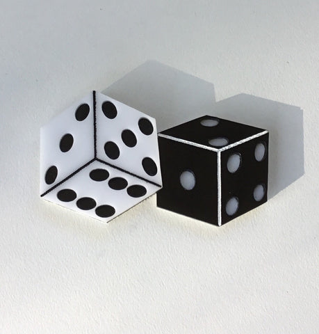 Lucky Dice Brooch