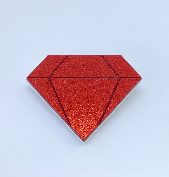 Sparkly Ruby Brooch
