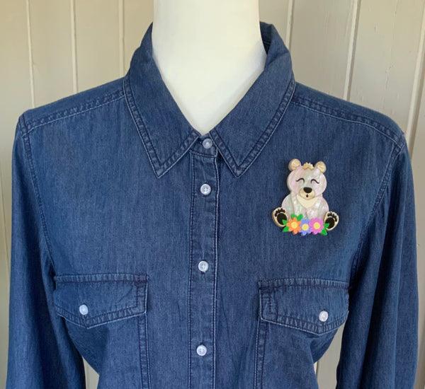 Bella Bear Brooch