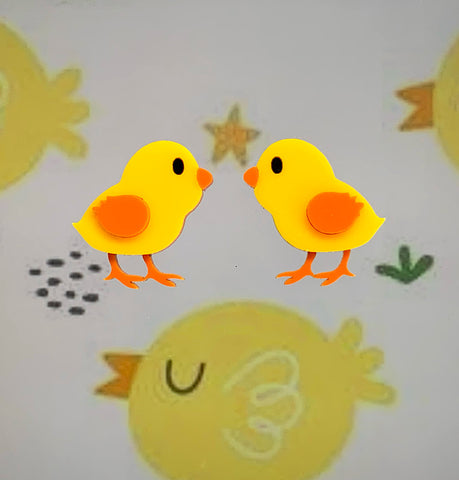 Twin Chicks - Brooch Set