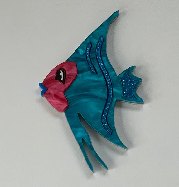 Angelica the Angel Fish Brooch