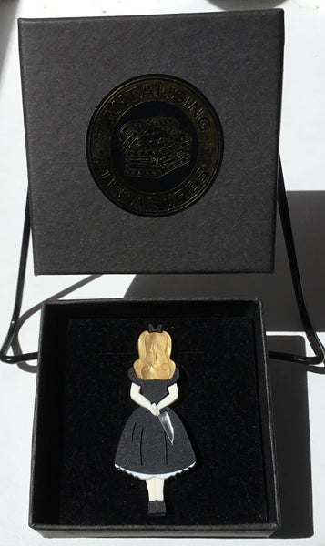 Demented Alice Brooch