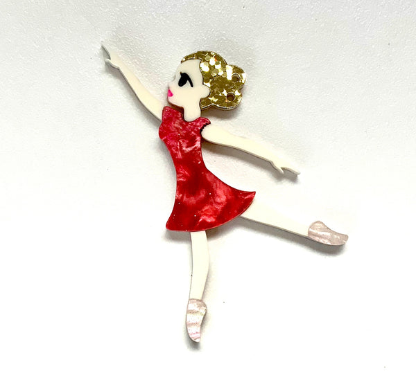 Clockwork Ballerina Brooch
